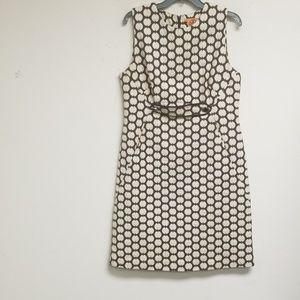 Tory Burch Polka Dots Sleeveless Dress Size 12